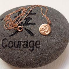 Rose gold jewelry 24kt Rose gold vermeil om by WendyShrayDesigns