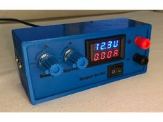 An inexpensive, adjustable lab power supply. Requires an external DC power supply with a voltage somewhere between 12-30V to function. I use an old la