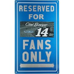 """Clint Bowyer 9"""" x 15"""" Metal Fans Only Sign"""