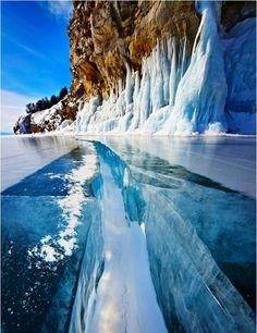 A Frozen Lake In Siberia