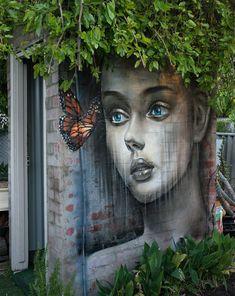Street Art meets nature Artist: Artbyd3stroy  #art #mural #graffiti #streetart