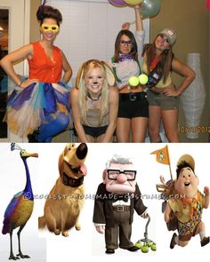Coolest Up! Girls Group Costume... This website is the Pinterest of costumes OH MY FREAKING GOODNESS WILL SOMEONE DO THIS WITH ME? I SOOOO WANNA BE THE OLD GUY :DDDD