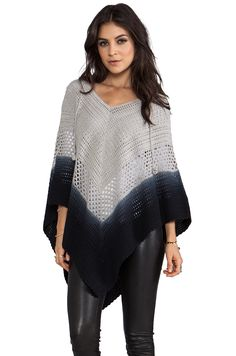 Lisa Maree Days End Crochet Hooded Poncho in Acid Black Ombre from REVOLVEclothing, $207