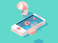 iPhone Pool by JR Parcon - Dribbble
