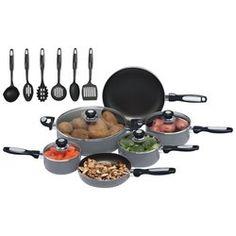 Chef's Secret® 16pc Hard Anodized Aluminum Cookware Set