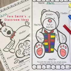 Need Some Seasonal Fun for Two-Digit By Two-Digit Multiplication? Two Digit Multiplication, Multiplication Activities, Fun Activities, Math Math, Math Fractions, Math Games, Christmas Color By Number, Christmas Colors, Christmas Ideas