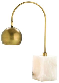 Arteriors Home 49930 Jana Brass/Marble Adjustable Desk Lamp Room Lamp, Desk Lamp, Table Lamp, Home Lighting Design, Lighting Ideas, I Love Lamp, Marble, House Design, Lights
