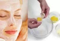 Egg White Mask, Face Mask For Spots, Natural Facial, Homemade Face Masks, Prevent Wrinkles, Acne Prone Skin, Skin Brightening, Face Skin, Good Skin
