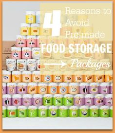 Why building your own package is so much better than buying a pre-made one. http://www.yourownhomestore.com/dont-buy-premade-food-storage-package/
