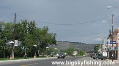 Look this is half of main street in my home town Columbus, Montana...Crazy how small it is