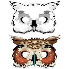 FREE DIY PDF printable print and cut mask OWL hedwig Harry Potter                                                                                                                                                                                 More