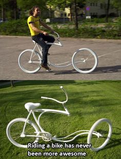 Awesome level of riding a bike