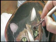 Dessin et peinture 205 : Peindre un chat sur galet 2.