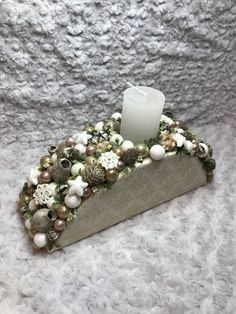 Christmas Table Decorations, Christmas Ornaments, Winter Christmas, Creations, Candles, Pure Products, Holidays, Design, Home Decor