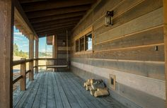 rustic ranch siding | Rustic ranchwood™ Prefinished Wood Siding at Rock Creek Cattle ...