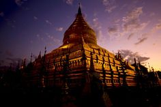 Shwezigon Pagoda, Bagan, Myanmar  #shwezigon #pagoda #temple #bagan #myanmar #burma #burmese #buddhist #buddhism #religious #monks #sunset #explore #landscape #photooftheday #picoftheday #igphoto #travel #asia #tomyasia #instatravel #instagood