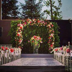 A wedding aisle at Ajia Hotel by KM Events #kmevents #weddingaisle # weddingceremony #weddinginspirations #weddingideas #arch