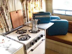 suitcases I just picked up for storage and staging for the 1966 Winnebago Travel Trailer IMG_3329, via Flickr.