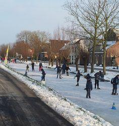 Schaatsen in Polsbroek (UT) 2013