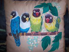 Ritratti di animali su federa cuscino 40x40cm di Silviartshop