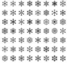 Let it snow, let it snow, let it snow and download this free snowflake dingbat font.