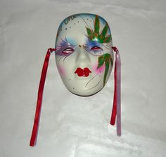 Handmade NEW ORLEANS WICCAN Ceramic Wall Mask for good Ganga