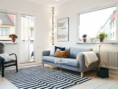 Scandinavian style living room | Maison du Chocolat: Apartamento de 77m2