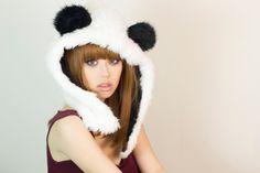 Panda hoodie hat