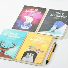 Hello-Goodnight-Cute-Sketchbook-Diary-Journal-Planner-Notebook-Free-Note-Memo
