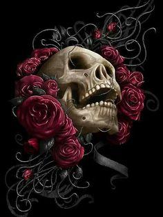 Skull art   Skulls and stars   Pinterest   Tattoo, Chicano and Dark art