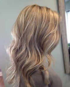Dark and light blonde highlights