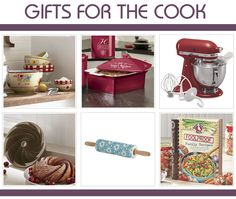 Gifts for the Cook: Consider giving her a personalized covered casserole dish that she can take to potlucks, a pretty rolling pin, or a set of serving bowls that offer a wealth of versatility. Stand mixers are a welcome addition to any kitchen. And when in doubt, any cook will be thrilled to have a new cookbook of gooseberry patch recipes to try out.