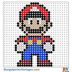 Super Mario Bügelperlen Vorlage. Auf buegelperlenvorlagen.com kannst du eine große Auswahl an Bügelperlen Vorlagen in PDF Format kostenlos herunterladen und ausdrucken.
