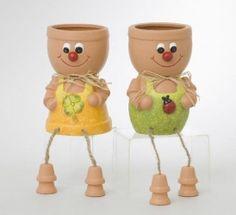 Boy And Girl Flower Pot.