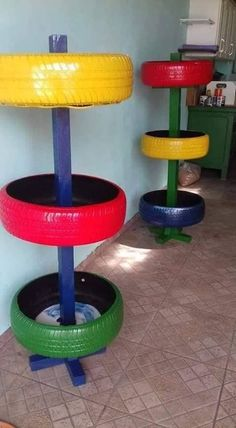 Tire garden - Best 10 Page 255649716334849628 SkillOfKing Com Tire Garden, Garden Yard Ideas, Garden Crafts, Diy Garden Decor, Garden Projects, Diy Home Decor, Tire Planters, Garden Planters, Vertikal Garden