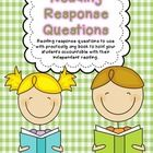 Reading Response Questions for Practically Any Book {freebie} - Fourth and Ten Reading Response, Reading Intervention, Reading Skills, 2nd Grade Reading, Guided Reading, Teaching Reading, Book Reports, Independent Reading, Literature Circles