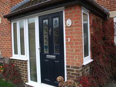 Porch Extension, Downstairs Cloakroom, Building A Porch, Windows, Front Porches, Porch Ideas, Front Doors, House, Design