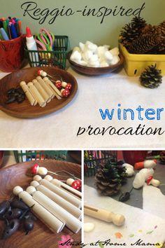 Reggio-inspired winter provocation