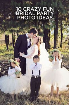 People always say a picture is worth a thousand words and we couldn't agree more. Check out these 10 Crazy Fun Bridal Party Photo Ideas: http://www.colincowieweddings.com/articles/ceremony-reception/10-crazy-fun-bridal-party-photo-ideas