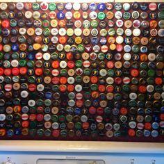 Beer inspired backsplash-someday in our brewery