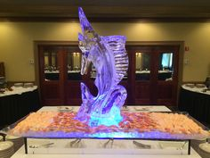 Marlin ice sculpture. #icesculptures