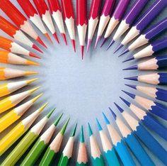 Een leuk hartje van potloden