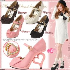 Heart heel hime Gyaru Japanese Fashion Pump