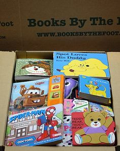 """Grab Bag"" Boxes!  We stuff as many toddler to pre-Kindergarten children's books as possible in these large (18"" x 12"" x 12"") Books by the..."