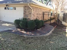 Paver walkway. Front House Landscaping, Landscaping Company, Paver Walkway, Walkways, Sidewalks, House Landscape, House Front, Paths, Concrete