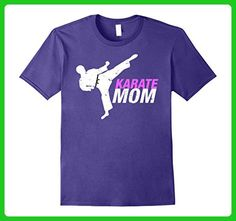 Mens Cool karate mom tshirt Medium Purple - Relatives and family shirts (*Amazon Partner-Link)