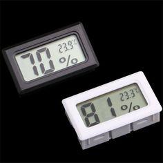 Mini Digital LCD Trong Nhà Thuận Tiện Cảm Biến Nhiệt Độ Độ Ẩm Đo Nhiệt Kế Ẩm Kế Đo Vận Chuyển Miễn Phí
