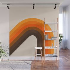 Golden Bending Bow Wall Mural by Circa 78 Designs - X Bedroom Murals, Bedroom Wall, Bedroom Decor, Wall Decor, Casa Top, Retro Bedrooms, Room Wall Painting, 70s Home Decor, My New Room