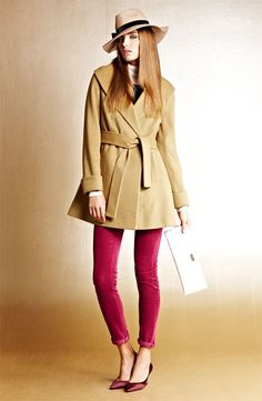 A coat with Feminine Flare! Trink Turk Wrap Coat & KUT from the Kloth Cords #Nordstrom
