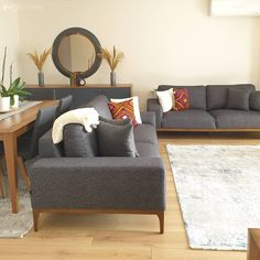 Interior Design Living Room Warm, Dining Room Design, Interior Design Kitchen, Living Room Colors, My Living Room, Deco Furniture, Furniture Design, Bungalow House Design, Cozy House